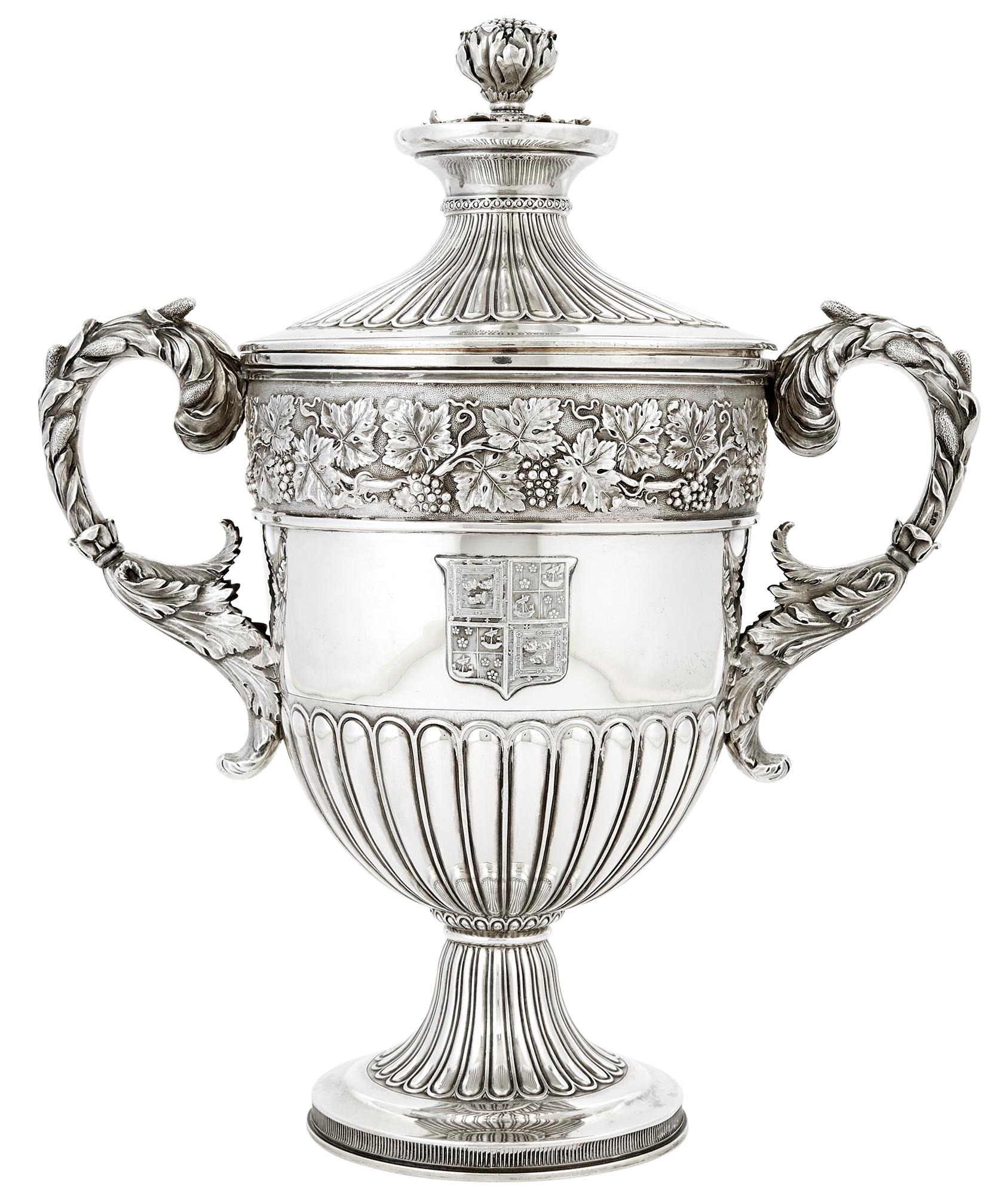 Lot image - George III Sterling Silver Cup and Cover