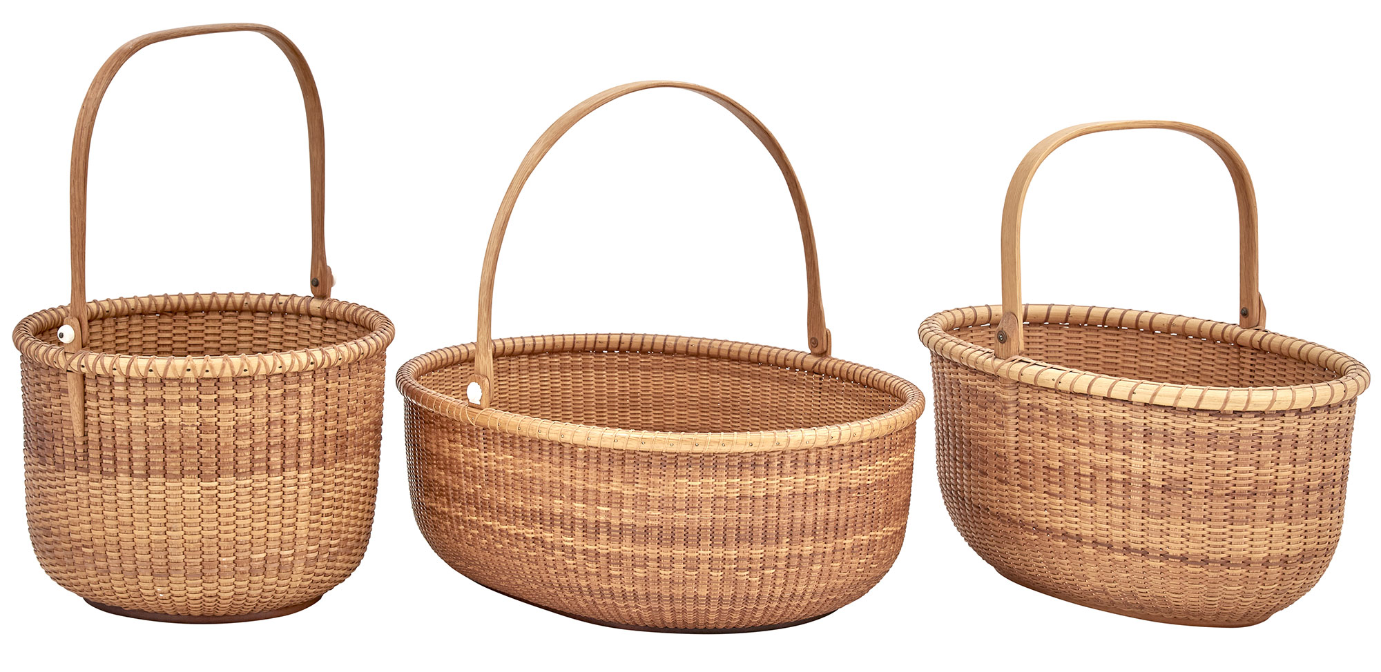 Lot image - Group of Three Open Lightship Baskets
