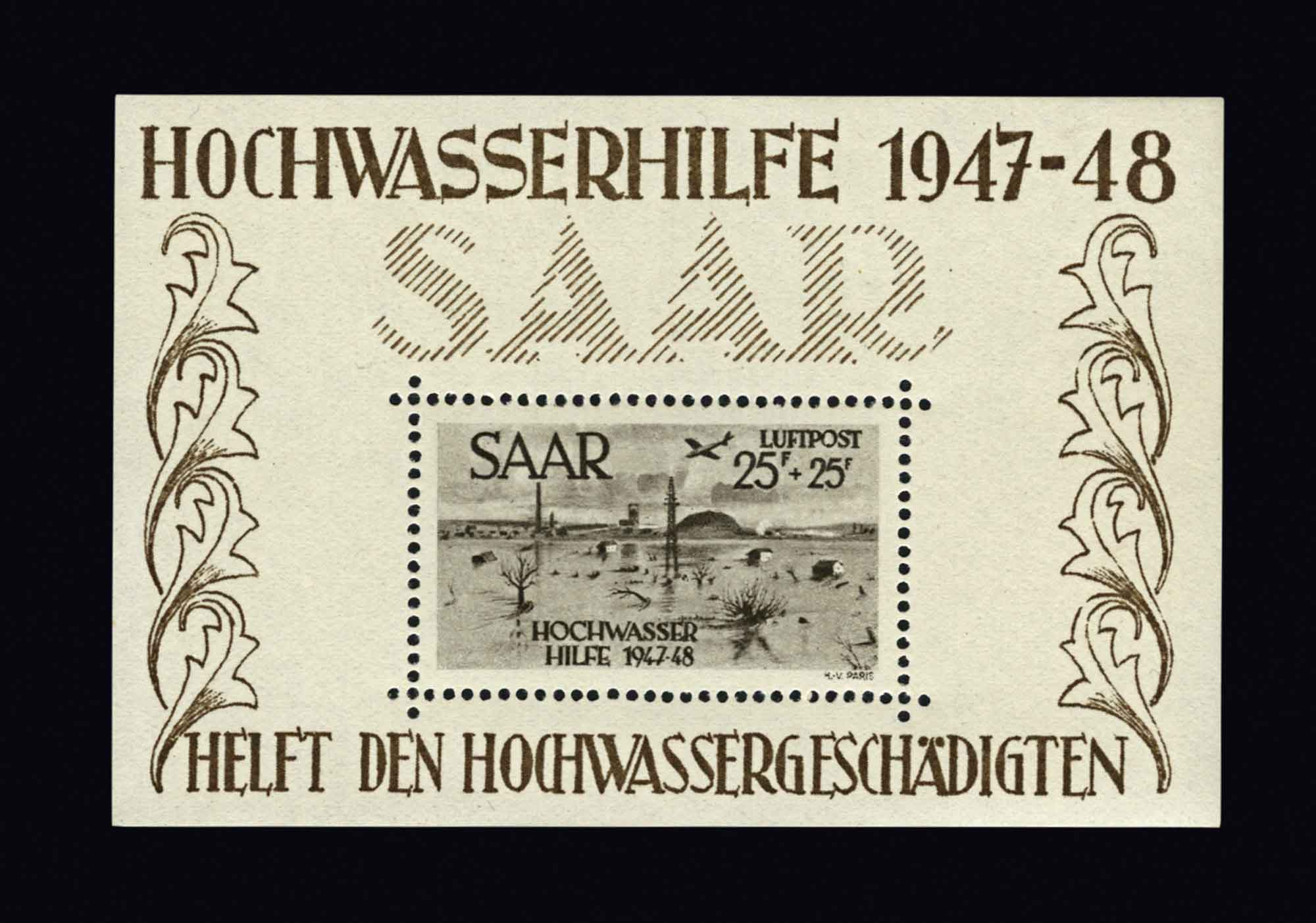 Lot image - Saar Under French Protectorate Postage Stamp Collection