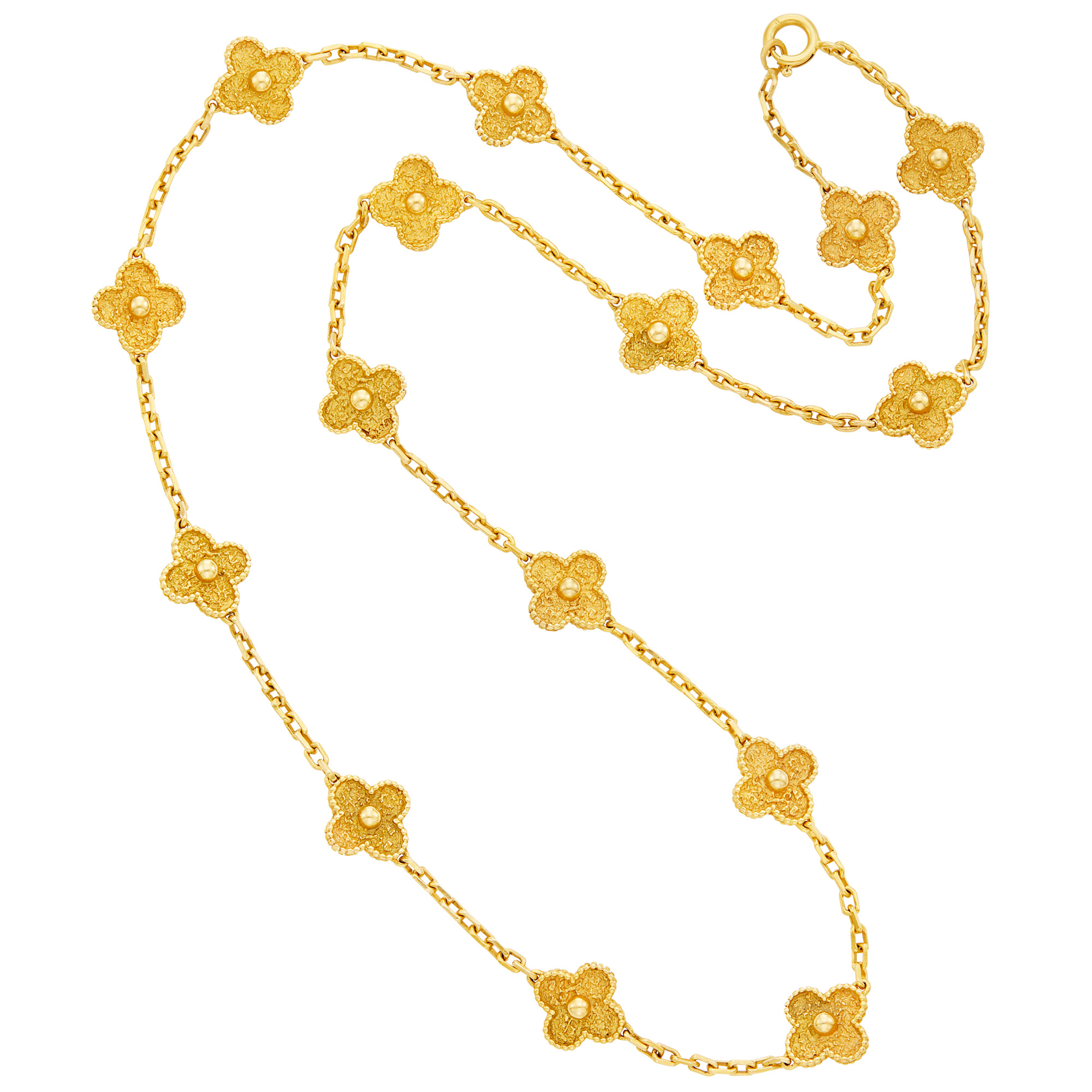 Lot image - Gold Clover Link Chain Necklace