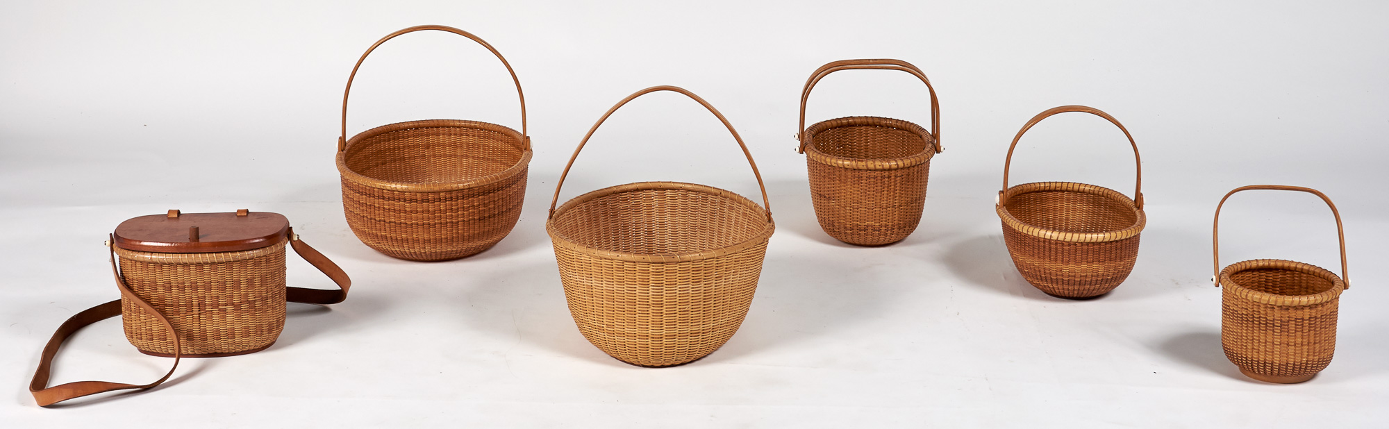 Lot image - Group of Five Open Lightship Baskets
