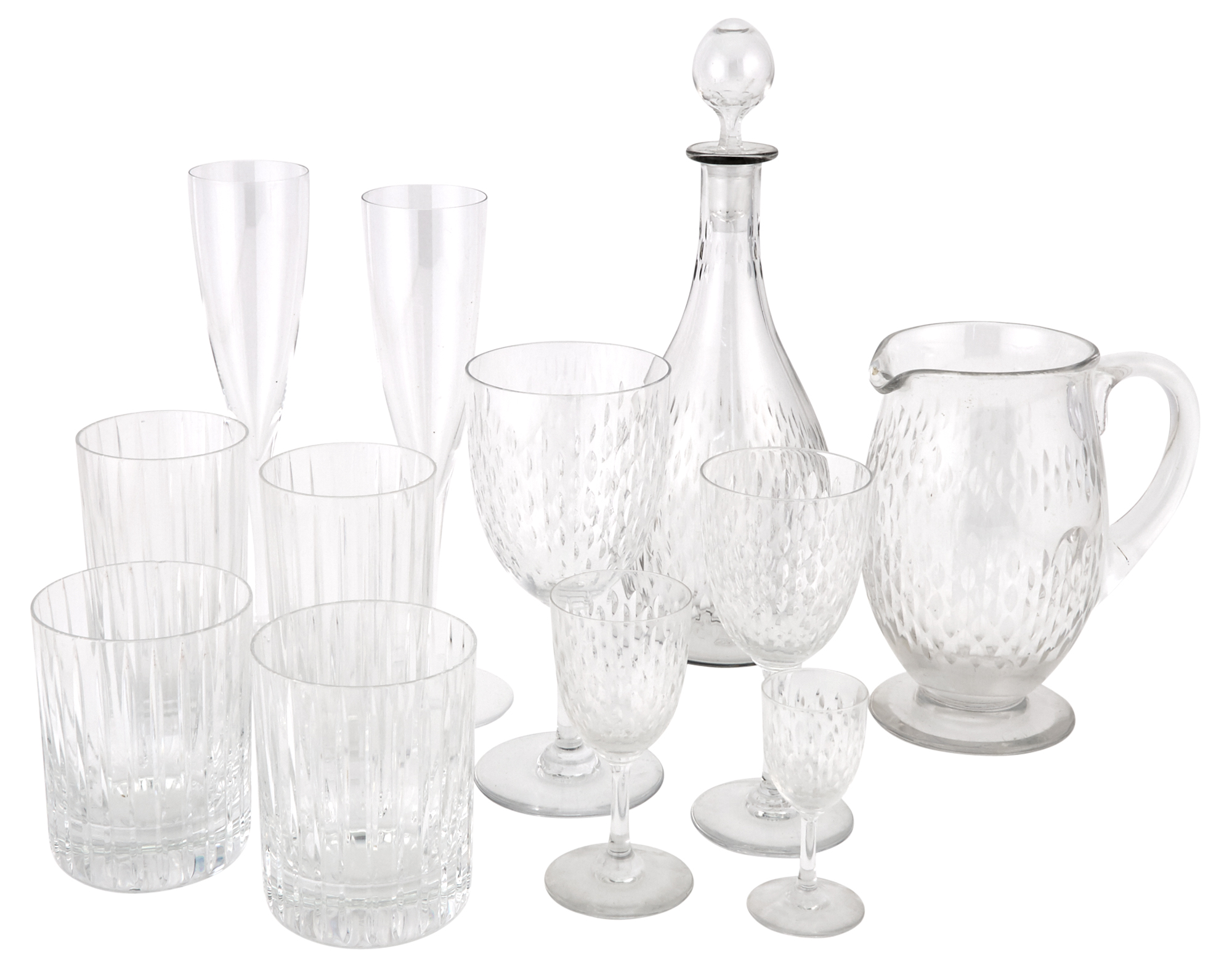 Lot image - Group of Baccarat Glass Tableware