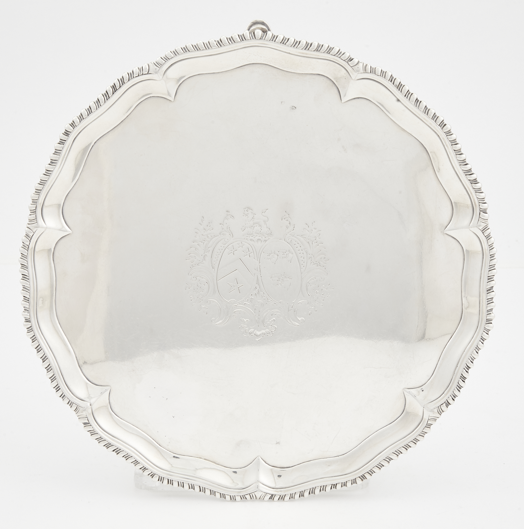 Lot image - George III Sterling Silver Salver