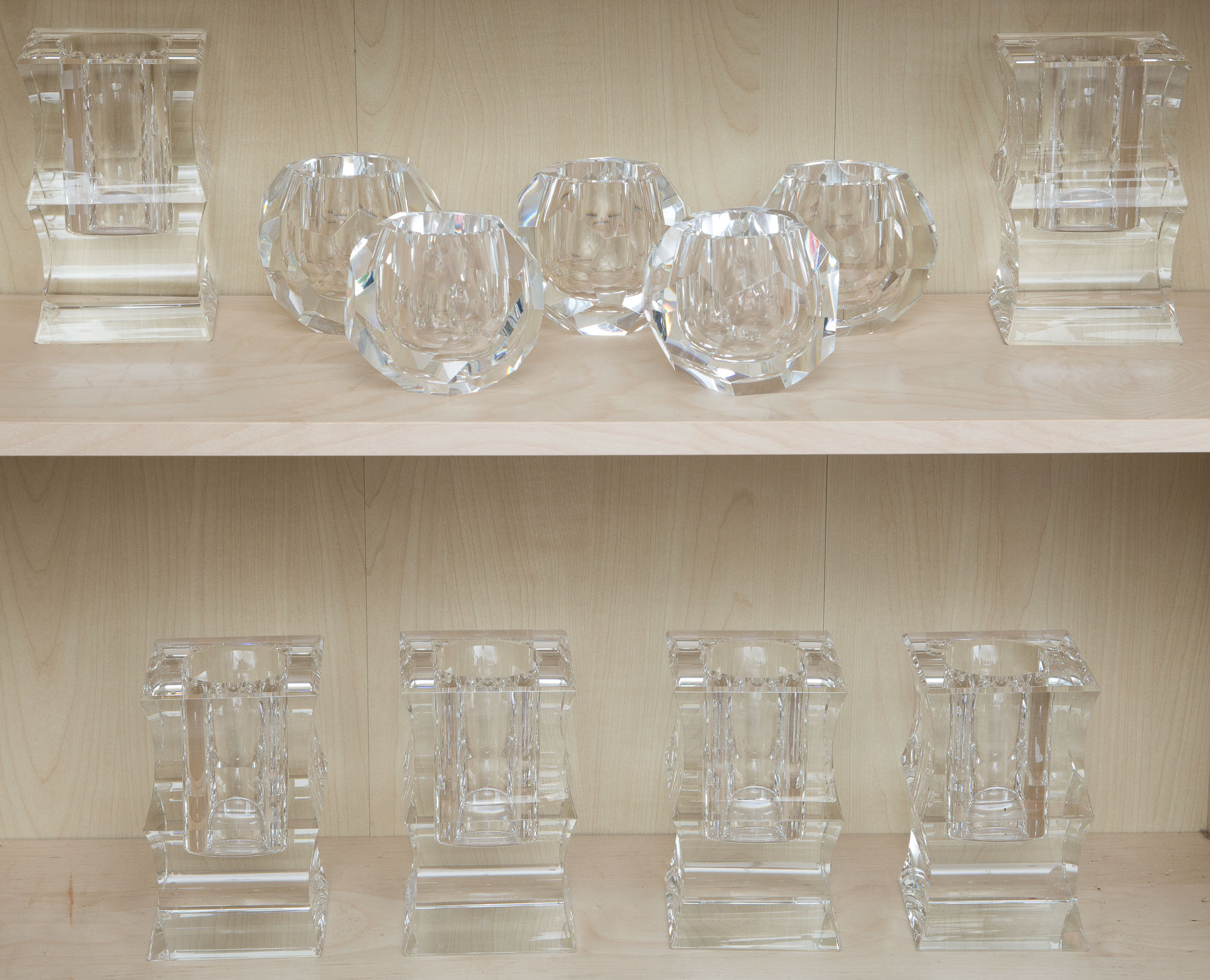Lot image - Group of Eleven Oleg Cassini Glass Table Articles