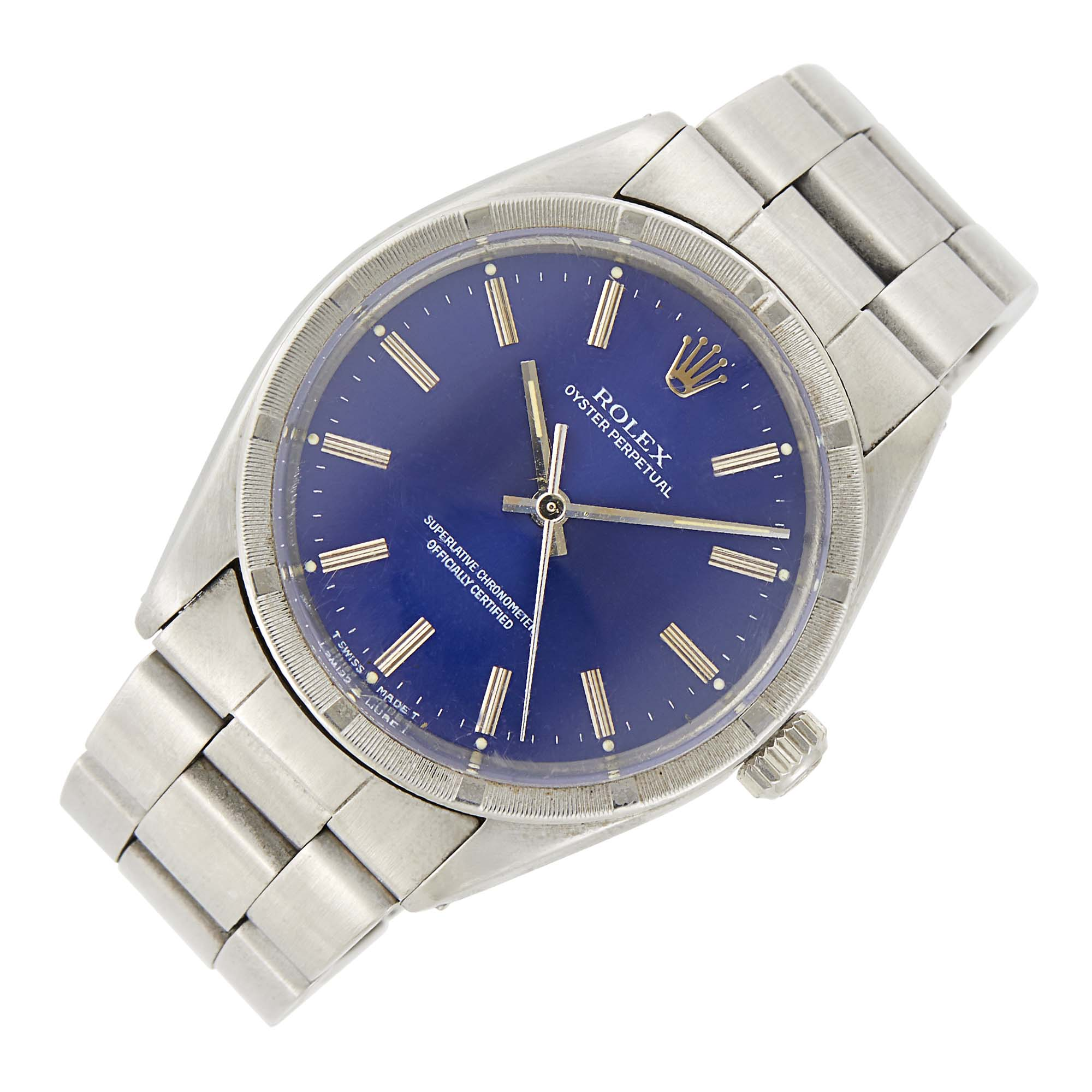 Lot image - Rolex Gentlemans Stainless Steel Oyster Perpetual Wristwatch, Ref. 1007