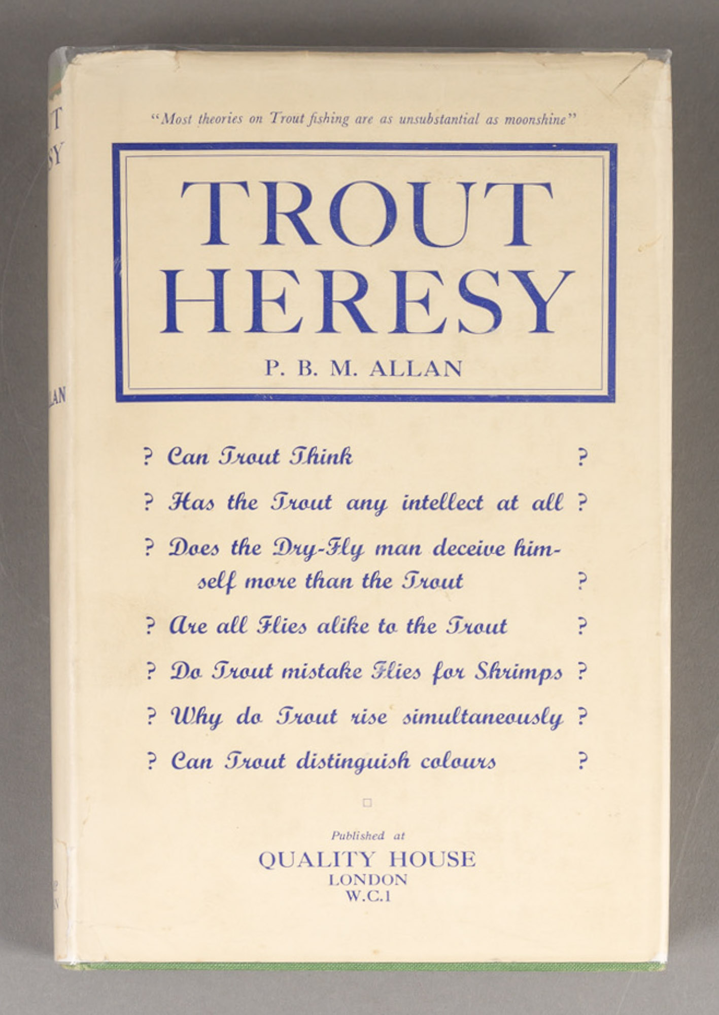 Lot image - ALLAN, P.B.M.  Trout Heresy.