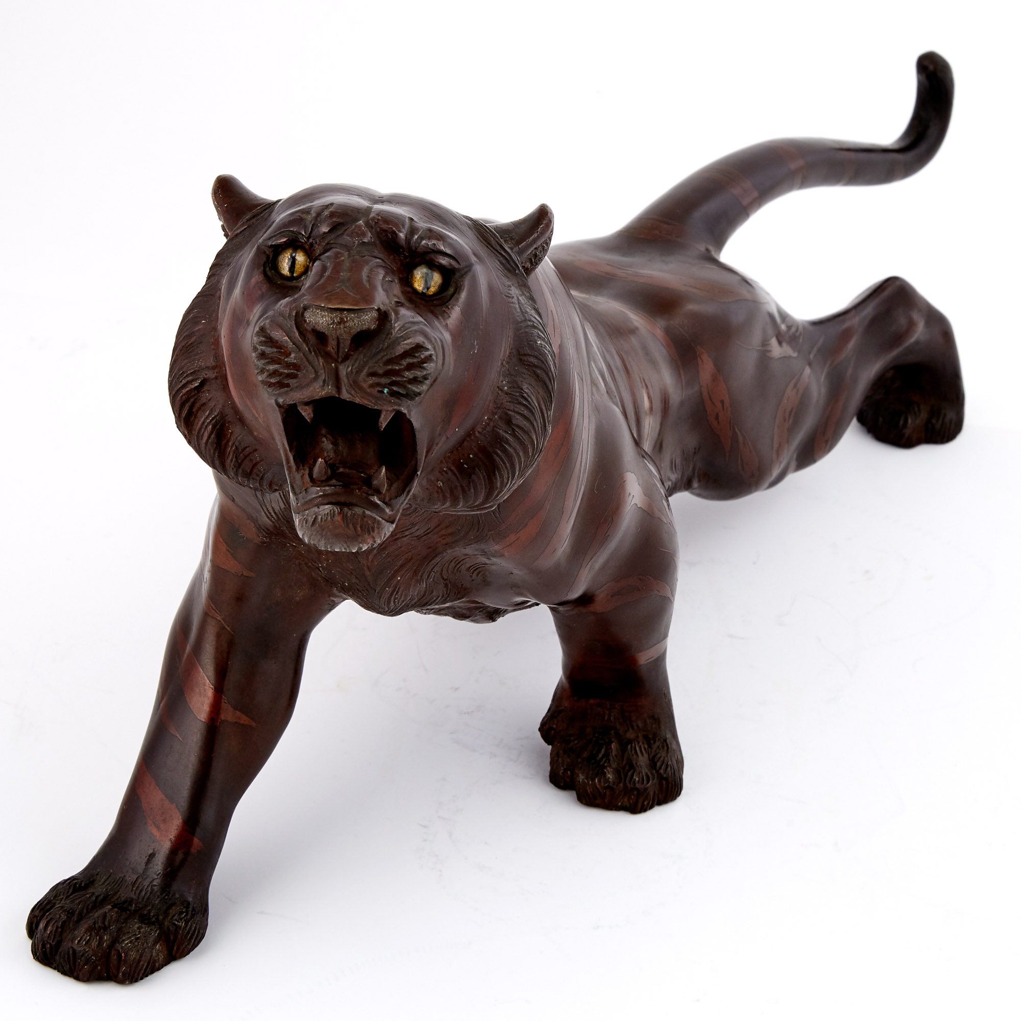 Lot image - Japanese Bronze Tiger
