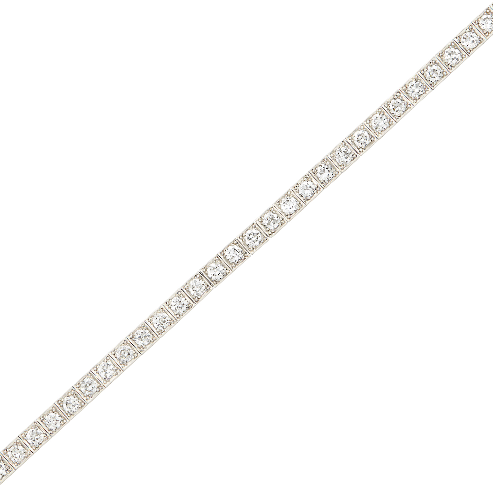 Lot image - Platinum and Diamond Straightline Bracelet