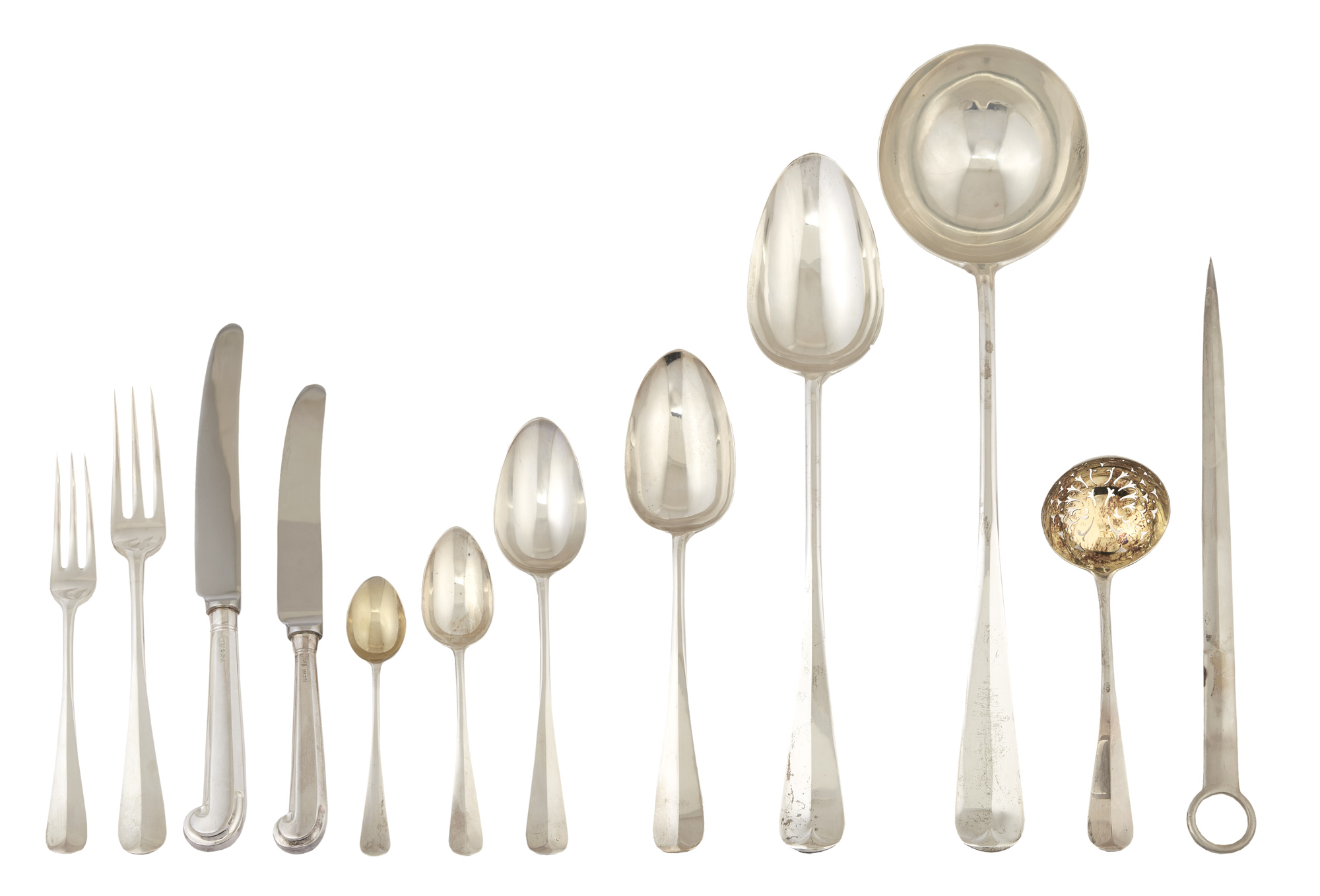Lot image - Assembled Victorian Sterling Silver Flatware Service