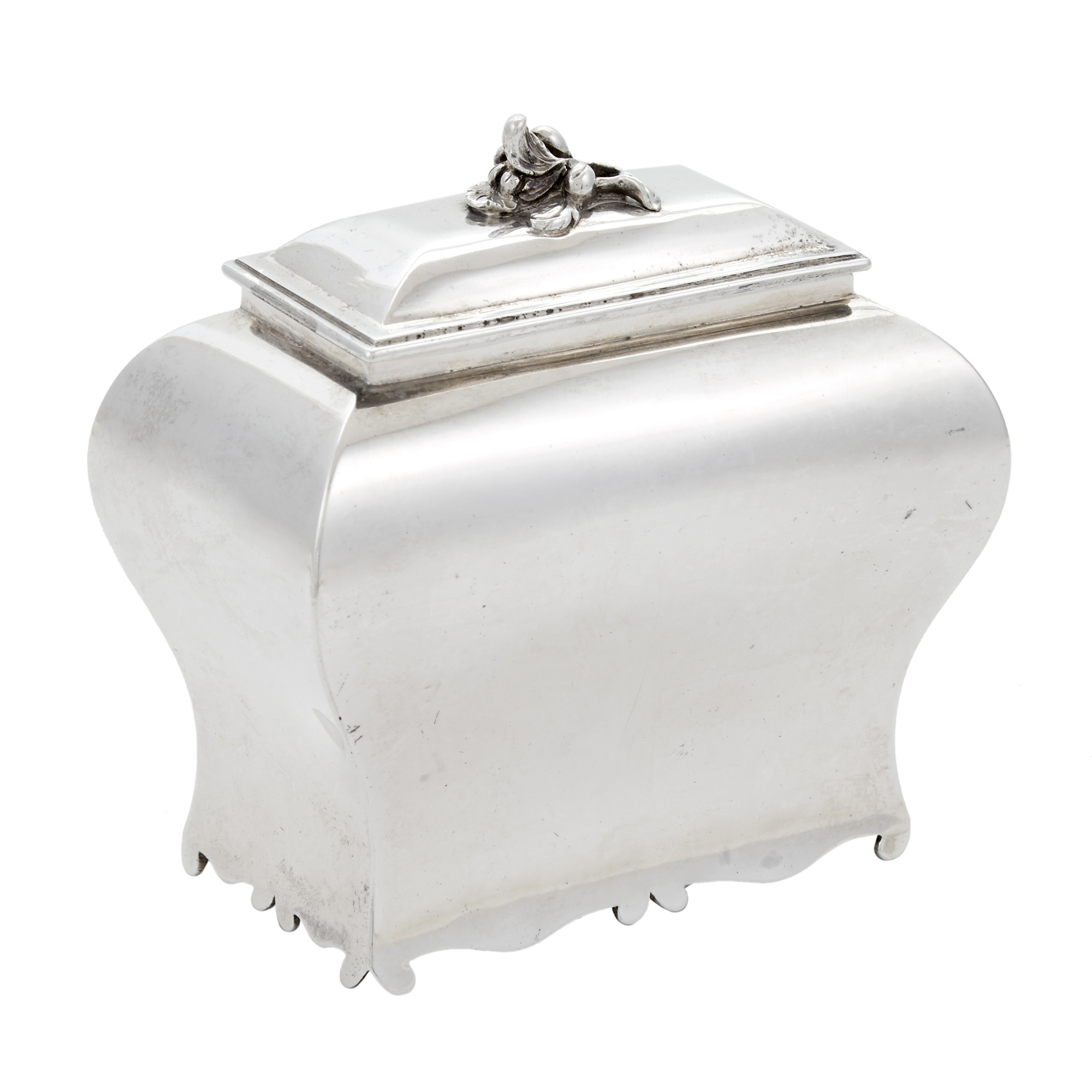Lot image - George III Sterling Silver Tea Caddy