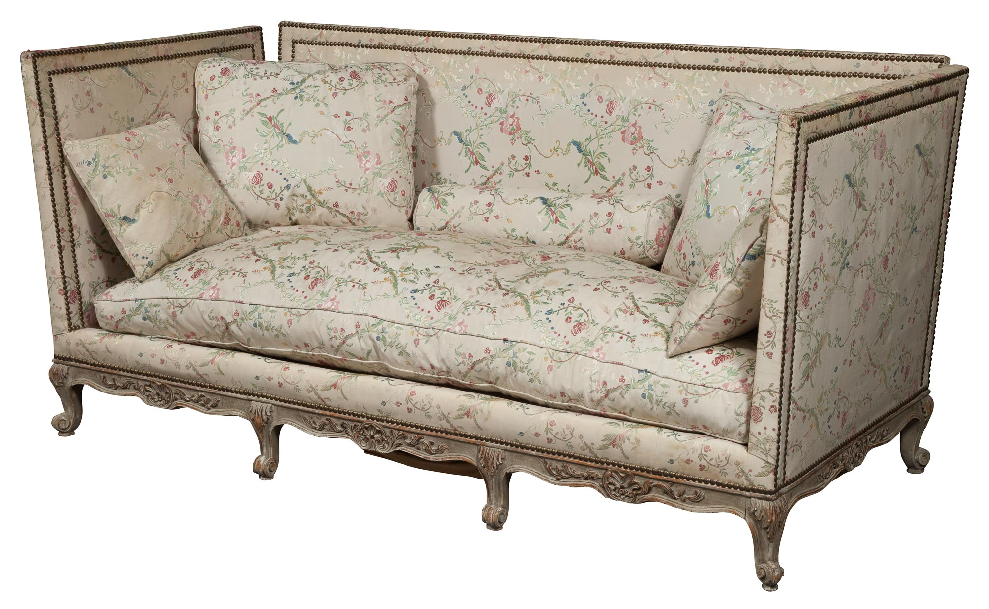 Lot image - Louis XV Style Silvered Wood Daybed