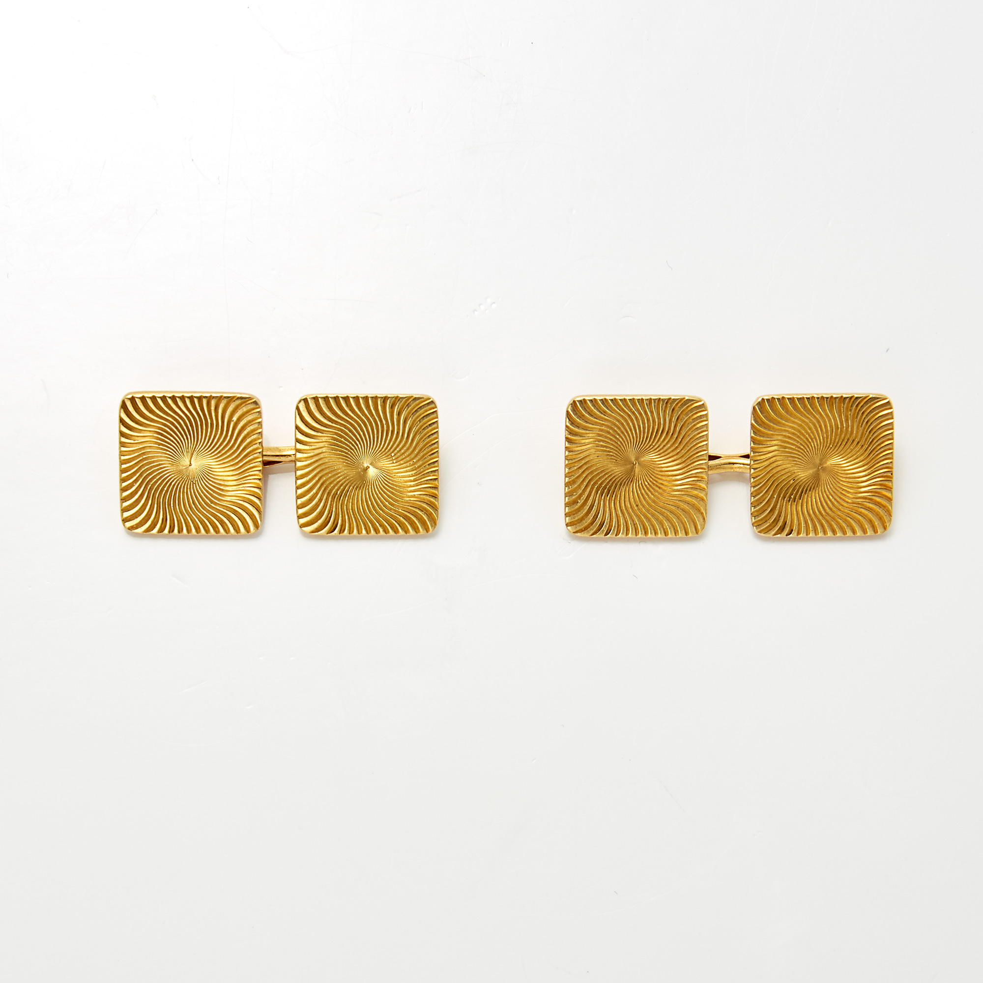 Lot image - Pair of Gold Cufflinks