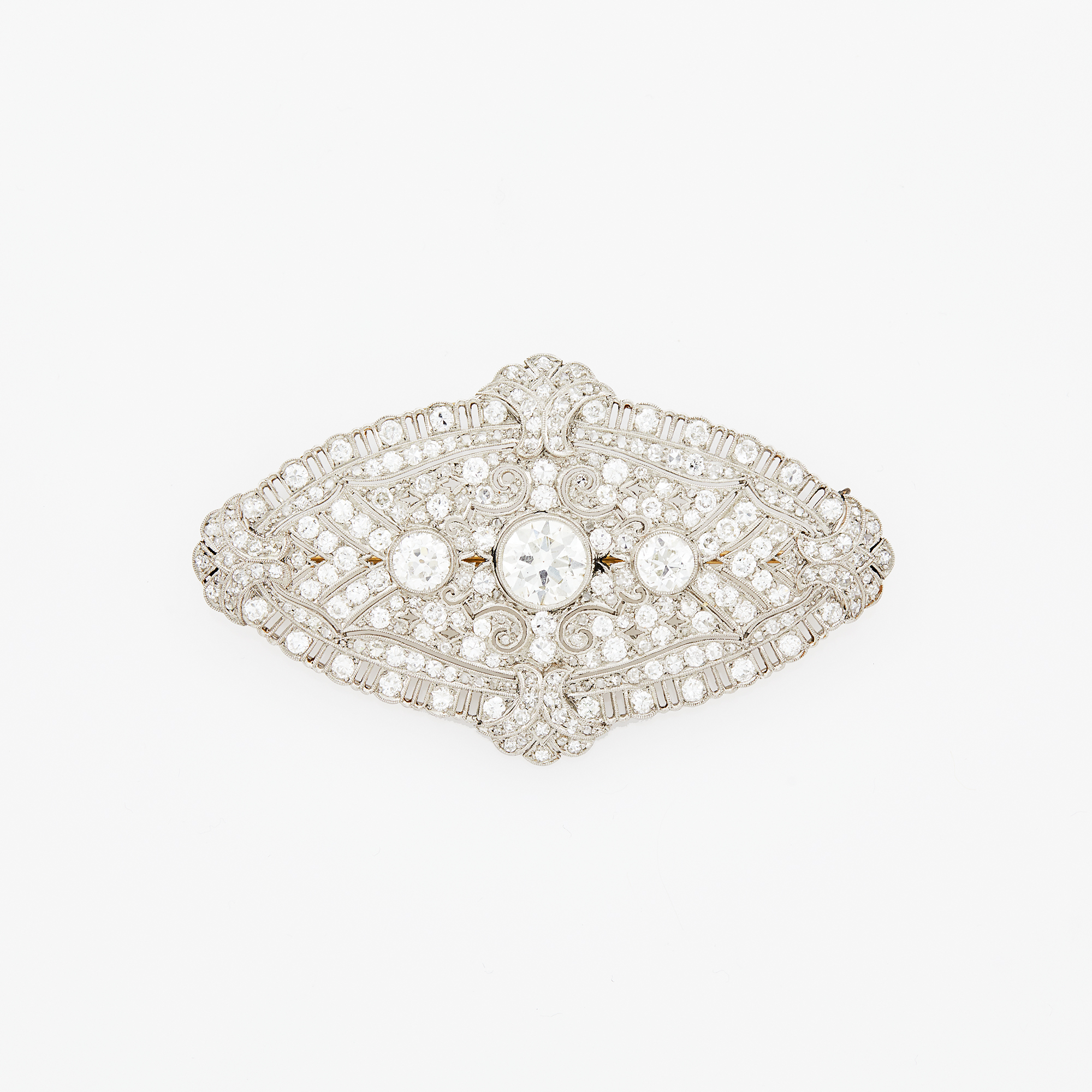 Lot image - Platinum and Diamond Brooch