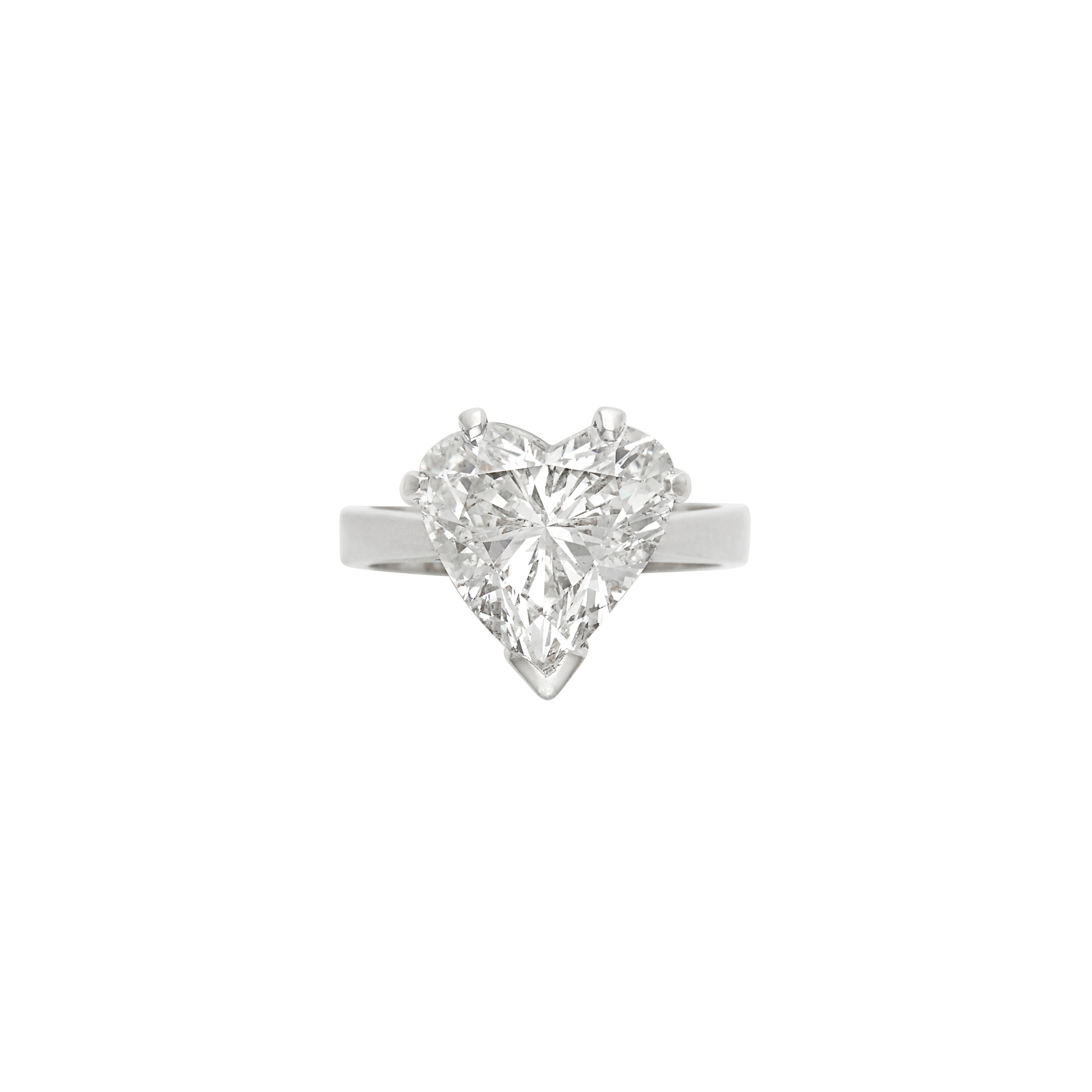 Lot image - White Gold and Diamond Ring