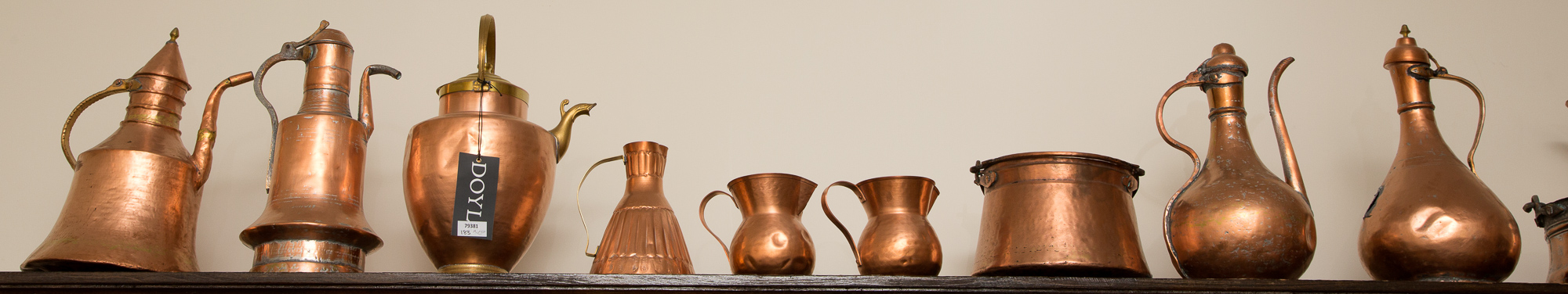 Lot image - Miscellaneous Group of Copper Kitchenware