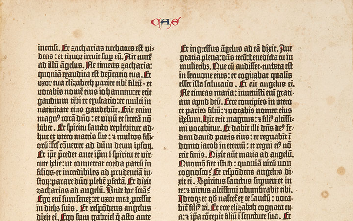 Image for story - The Gutenberg Bible
