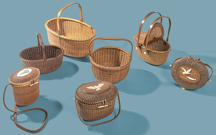Nantucket Baskets from the Collection of Claire Tracy and Frank Glaser