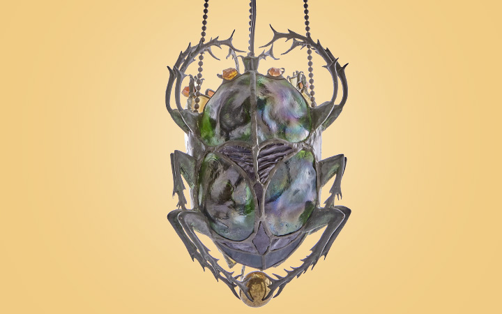 Tiffany Scarab Lamp