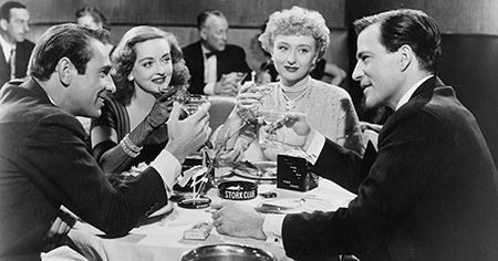 With Garry Merrill, Bette Davis and Hugh Marlow in All About Eve (1950)