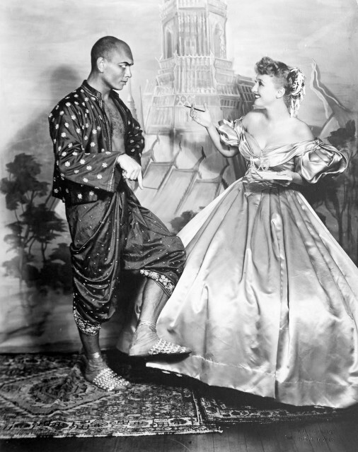 With Yul Brynner in The King and I (1952)