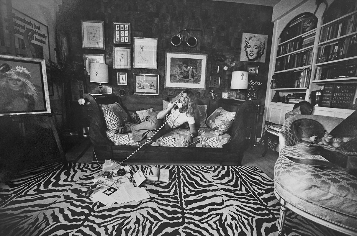 Sylvia Miles at her home on Central Park South