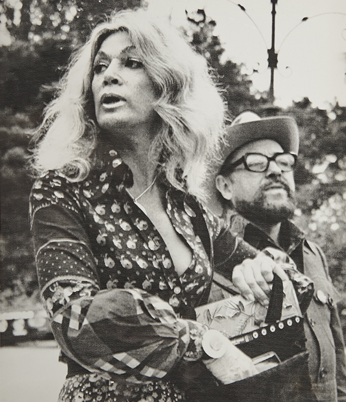 Sylvia Miles with Tennessee Williams