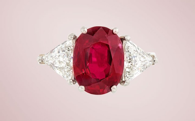Burma Ruby and Diamond Ring, Bulgari