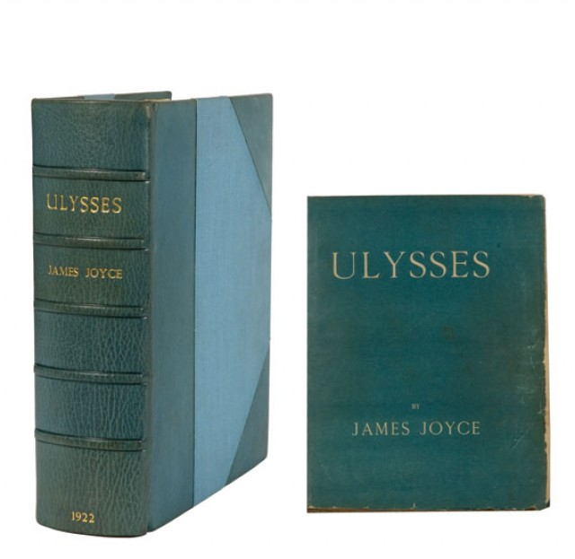 James Joyce, Ulysses. Paris: Shakespeare and Company, 1922. First edition. Sold for $137,500.