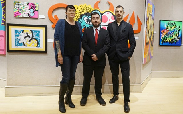 Curator Melissa McCaig Welles, Doyle Specialist Angelo Madrigale and Curator Robert Aloia