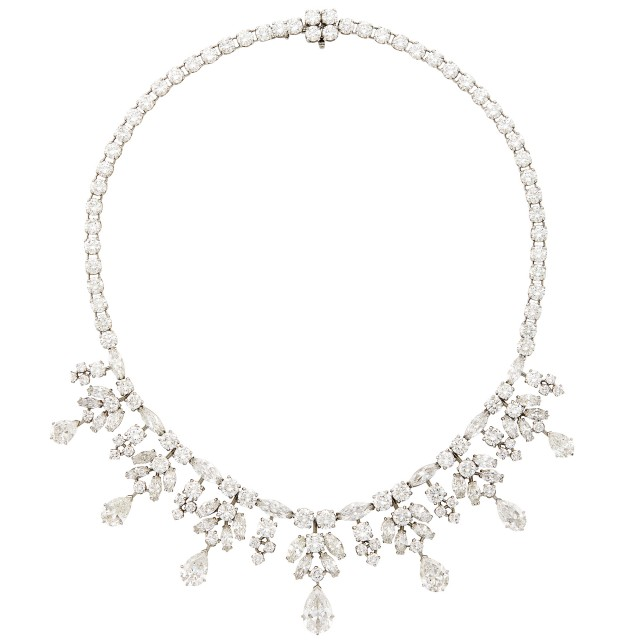 Van Cleef and Arpels Diamond Necklace. Property from a Collection on Rittenhouse Square. Est. $150,000-250,000. Auction Oct 16.