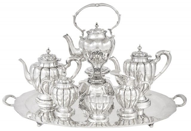 Mexican Sterling Silver Coffee and Tea Service