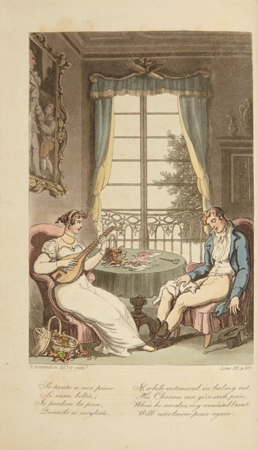 [ROWLANDSON, THOMAS]  ENGELBACH, LEWIS. Naples and the Campagna Felice in a Series of Letters.