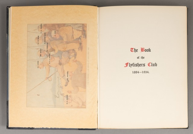 [ANON]  The Book of the Flyfishers Club 1884-1934.