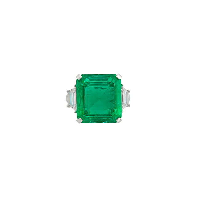 Platinum, Emerald and Diamond Ring, Harry Winston