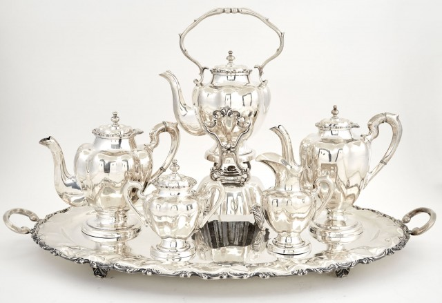 Mexican Sterling Silver Six-Piece Tea and Coffee Service
