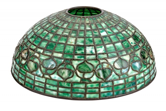 Tiffany Studios Leaded Glass Acorn Lamp Shade