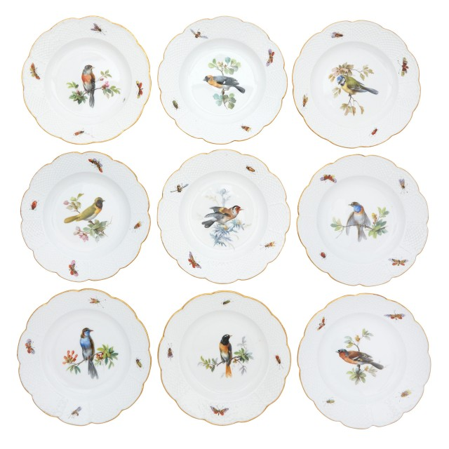 Meissen Porcelain Ornithological Dinner Service