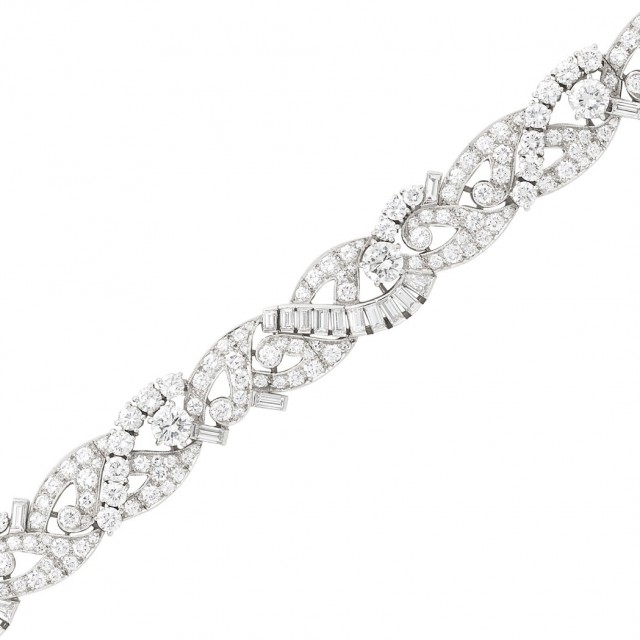 Platinum and Diamond Bracelet, Raymond Yard
