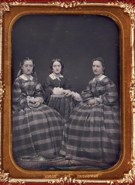 [DAGUERREOTYPE--ANSON]  Group of two daguerreotypes