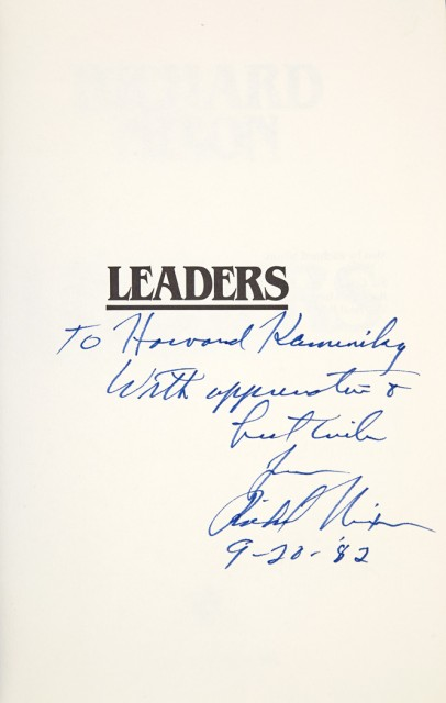 NIXON, RICHARD  Leaders.