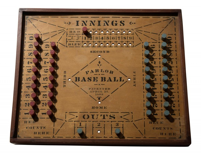 Folk Art 'Parlor Baseball' Game