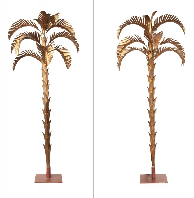 Pair of Gilt-Metal Palm Trees
