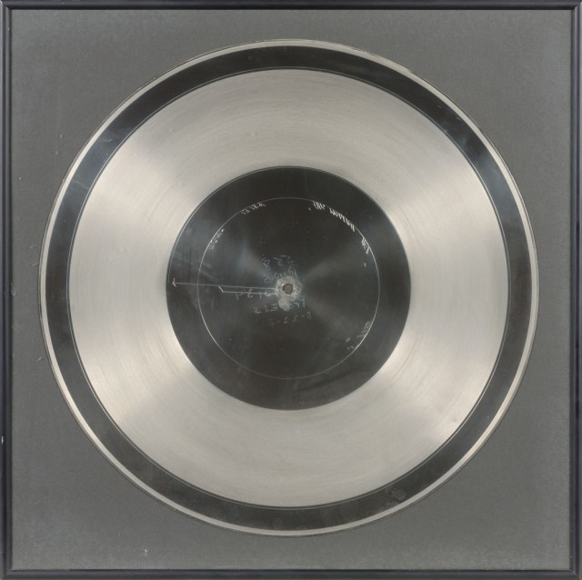 [CRAWFORD, JOAN]  Framed Vitaphone Disc of This Modern Age, 1931