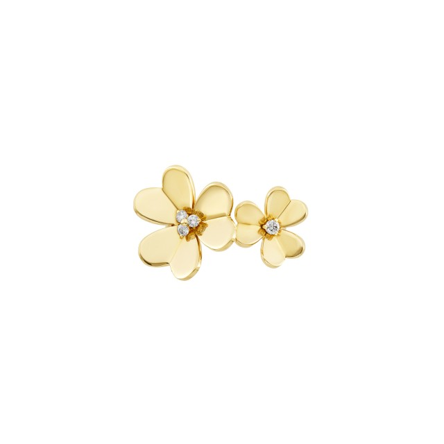 Gold and Diamond Double Flower 'Frivole' Ring, Van Cleef and Arpels