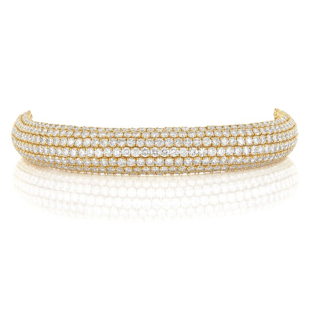 Gold and Diamond Bombé Bracelet, Boucheron, Paris