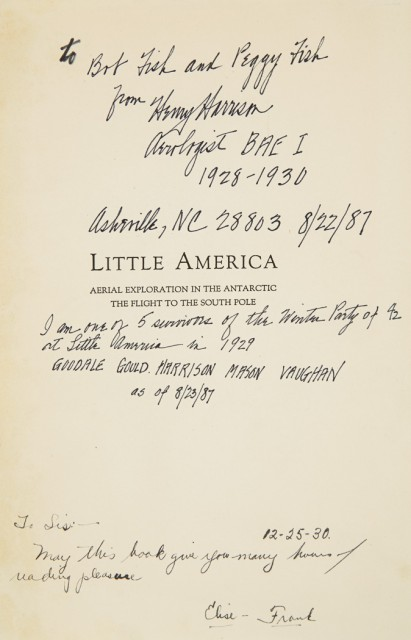 BYRD, RICHARD EVELYN  Little America: Aerial Exploration in the Antarctic. The Flight to the South Pole.