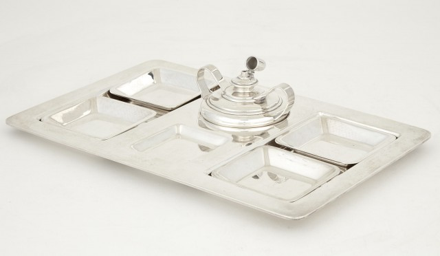 Tiffany and Co. Makers Sterling Silver Smoking Set