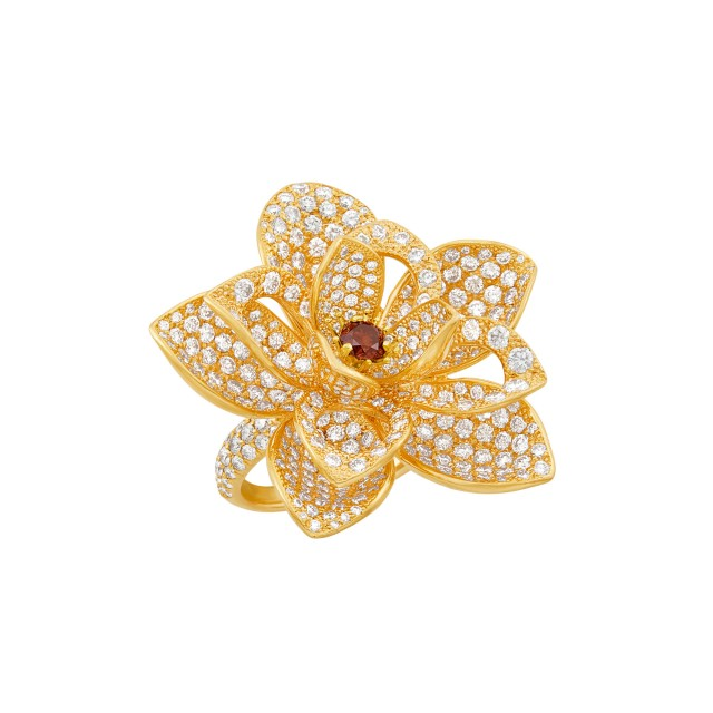 Rose Gold, Diamond and Colored Diamond 'Lotus' Ring, Kwiat