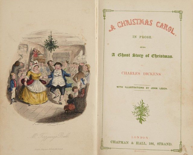 DICKENS, CHARLES  A Christmas carol, in prose, being a ghost story of Christmas. With illustrations by John Leech.