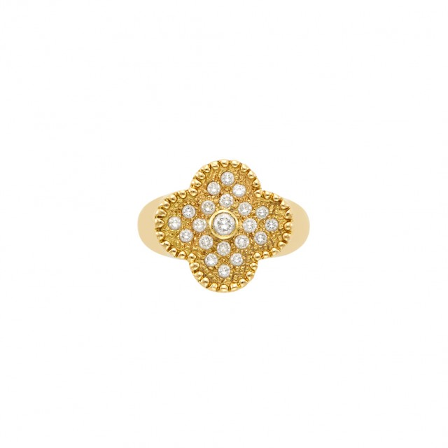 Gold and Diamond and#39;Alhambraand#39; Ring, Van Cleef and Arpels, France